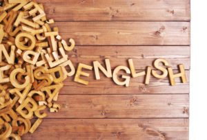 Word tiles spelling English